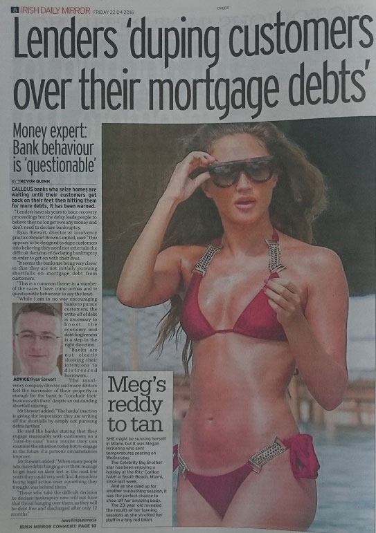 Banks mortgage behaviour in Ireland